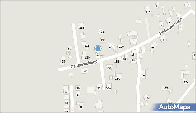 Bytom, Paderewskiego Ignacego Jana, 21, mapa Bytomia