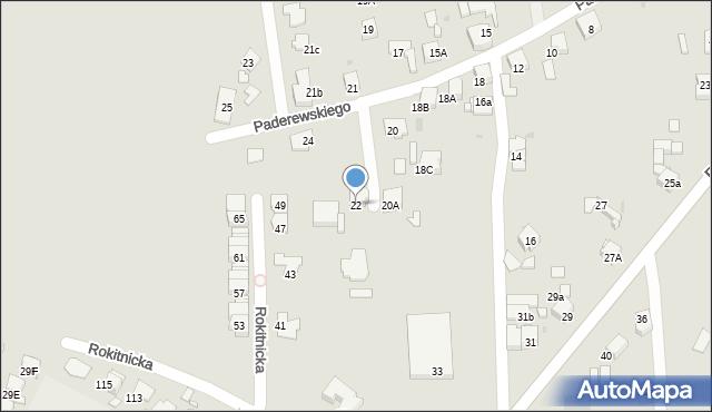 Bytom, Paderewskiego Ignacego Jana, 22, mapa Bytomia