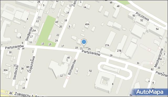 Chełm, Partyzantów, 23, mapa Chełma