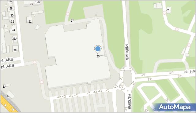 Chorzów, Parkowa, 20, mapa Chorzów