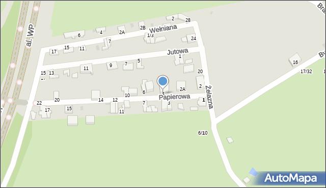 Częstochowa, Papierowa, 4, mapa Częstochowy
