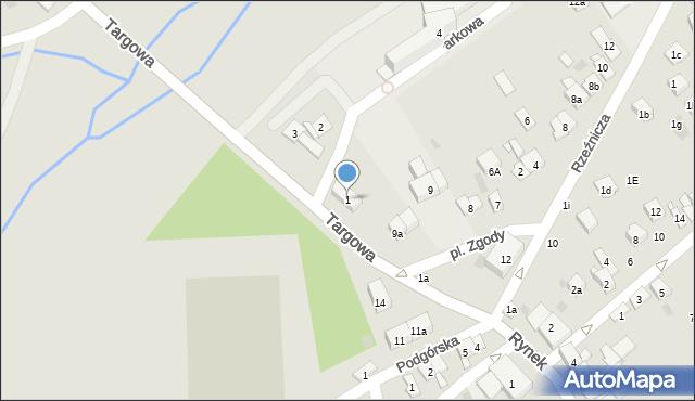 Dobczyce, Parkowa, 1, mapa Dobczyce