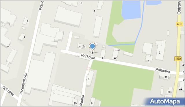 Grabów nad Prosną, Parkowa, 3, mapa Grabów nad Prosną