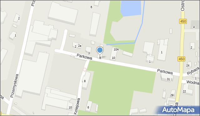 Grabów nad Prosną, Parkowa, 8, mapa Grabów nad Prosną
