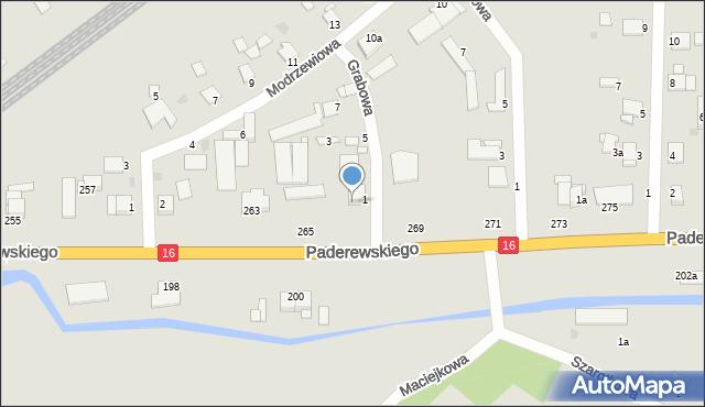 Grudziądz, Paderewskiego Ignacego Jana, 267, mapa Grudziądza