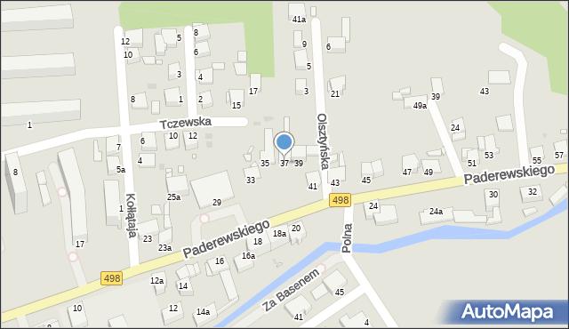 Grudziądz, Paderewskiego Ignacego Jana, 37, mapa Grudziądza