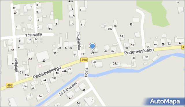 Grudziądz, Paderewskiego Ignacego Jana, 45, mapa Grudziądza