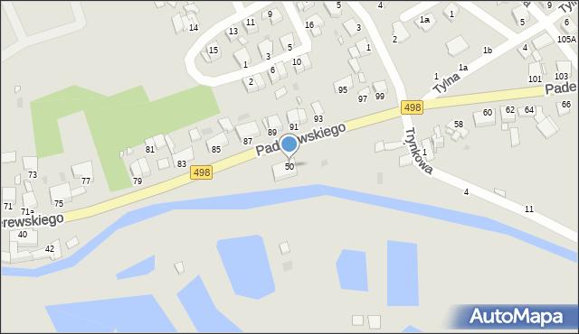 Grudziądz, Paderewskiego Ignacego Jana, 50, mapa Grudziądza