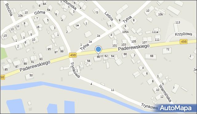 Grudziądz, Paderewskiego Ignacego Jana, 60, mapa Grudziądza