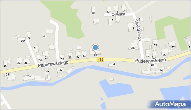Grudziądz, Paderewskiego Ignacego Jana, 63, mapa Grudziądza