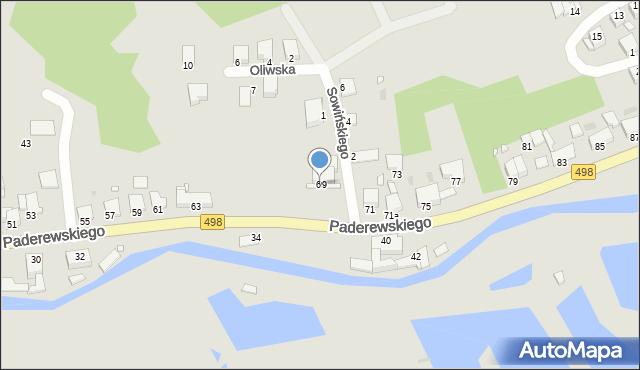Grudziądz, Paderewskiego Ignacego Jana, 69, mapa Grudziądza