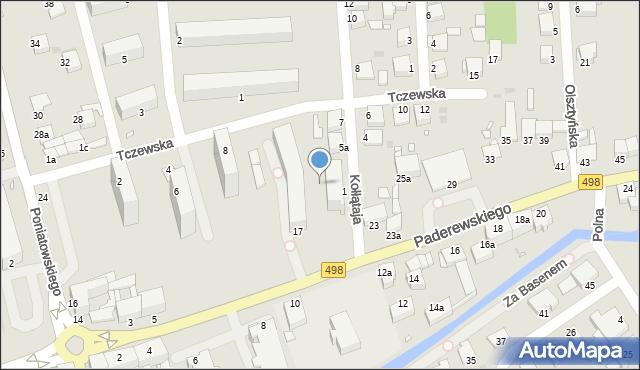 Grudziądz, Paderewskiego Ignacego Jana, 7, mapa Grudziądza