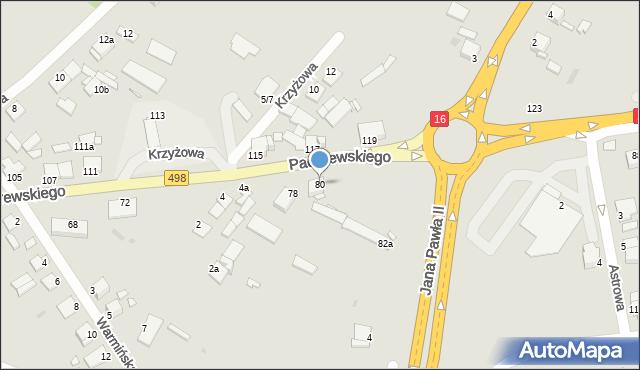 Grudziądz, Paderewskiego Ignacego Jana, 80, mapa Grudziądza