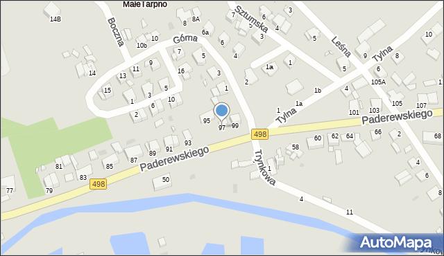 Grudziądz, Paderewskiego Ignacego Jana, 97, mapa Grudziądza