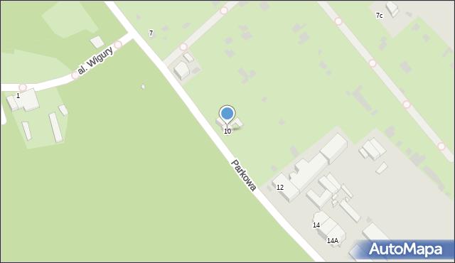 Grudziądz, Parkowa, 10, mapa Grudziądza