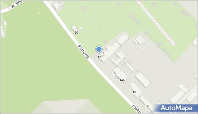 Grudziądz, Parkowa, 12, mapa Grudziądza