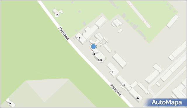 Grudziądz, Parkowa, 14, mapa Grudziądza