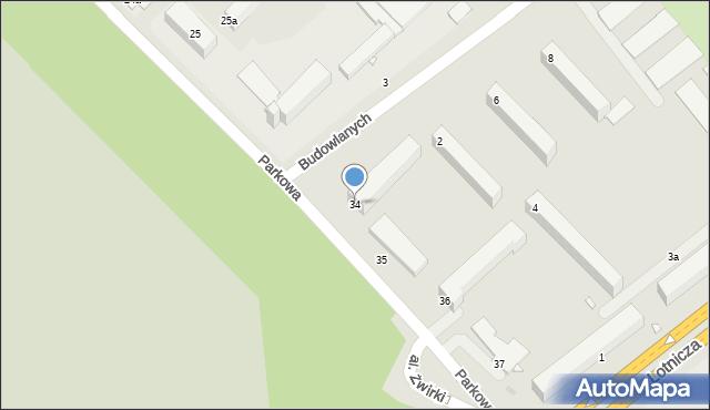 Grudziądz, Parkowa, 34, mapa Grudziądza