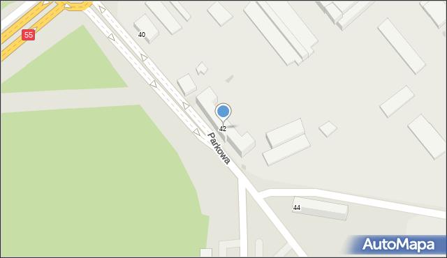Grudziądz, Parkowa, 42, mapa Grudziądza