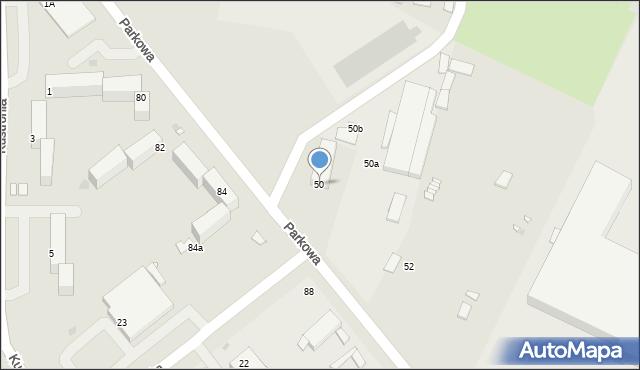 Grudziądz, Parkowa, 50, mapa Grudziądza