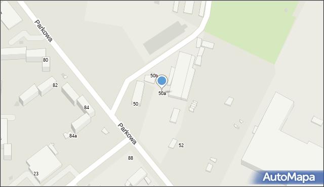 Grudziądz, Parkowa, 50a, mapa Grudziądza