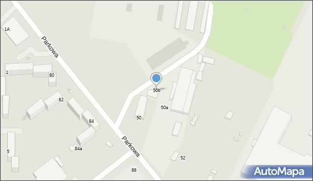Grudziądz, Parkowa, 50b, mapa Grudziądza
