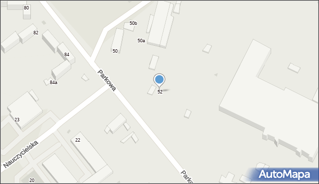 Grudziądz, Parkowa, 52, mapa Grudziądza