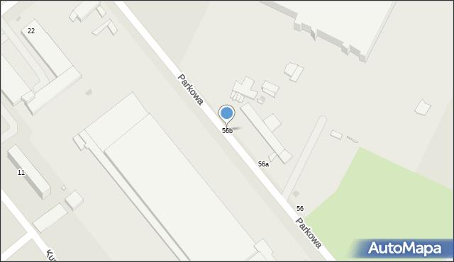 Grudziądz, Parkowa, 56b, mapa Grudziądza