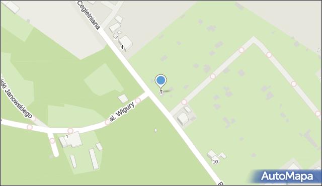 Grudziądz, Parkowa, 7, mapa Grudziądza