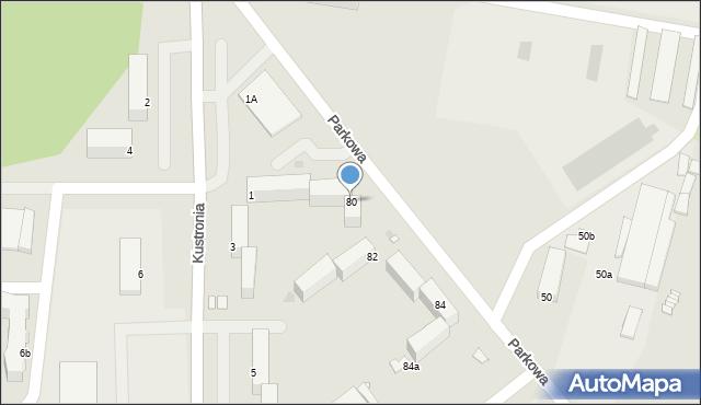 Grudziądz, Parkowa, 80, mapa Grudziądza