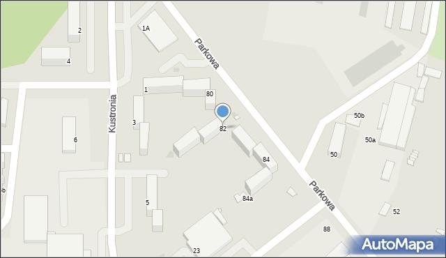 Grudziądz, Parkowa, 82, mapa Grudziądza