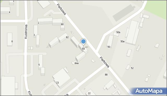 Grudziądz, Parkowa, 84, mapa Grudziądza