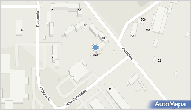 Grudziądz, Parkowa, 84a, mapa Grudziądza