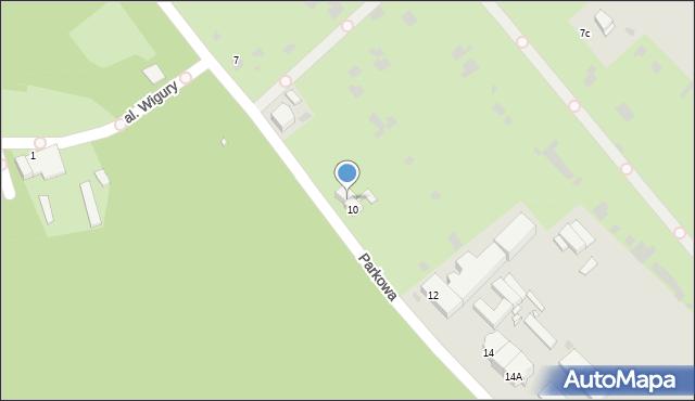 Grudziądz, Parkowa, 9, mapa Grudziądza