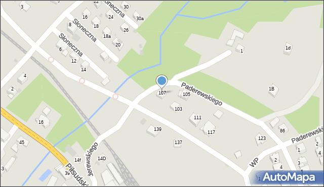 Limanowa, Paderewskiego Ignacego Jana, 107, mapa Limanowa