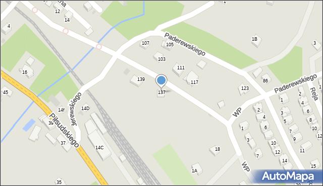 Limanowa, Paderewskiego Ignacego Jana, 137, mapa Limanowa