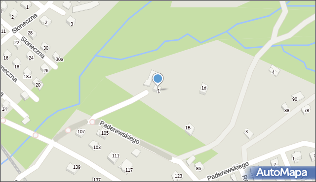 Limanowa, Partyzantów, 1, mapa Limanowa