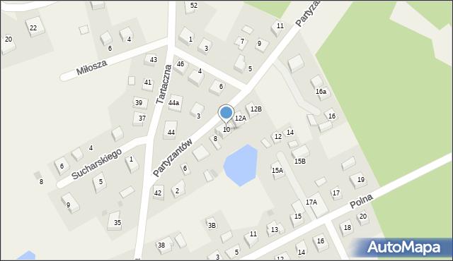 Luzino, Partyzantów, 10, mapa Luzino