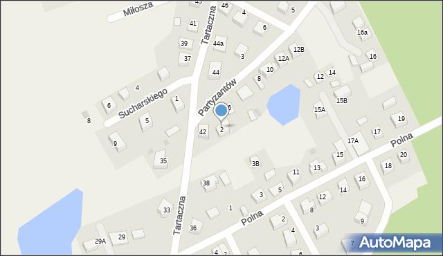 Luzino, Partyzantów, 4, mapa Luzino