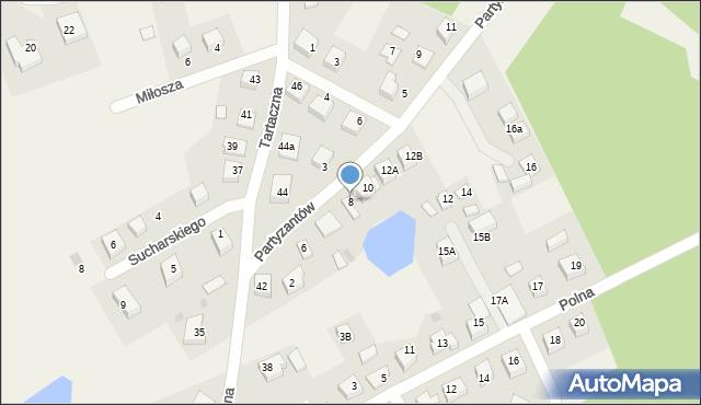 Luzino, Partyzantów, 8, mapa Luzino