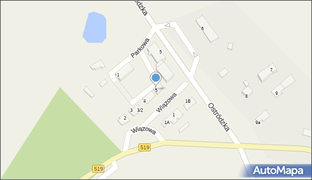 Małdyty, Parkowa, 5, mapa Małdyty