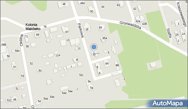 Marki, Parkowa, 10, mapa Marki