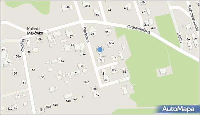 Marki, Parkowa, 12, mapa Marki