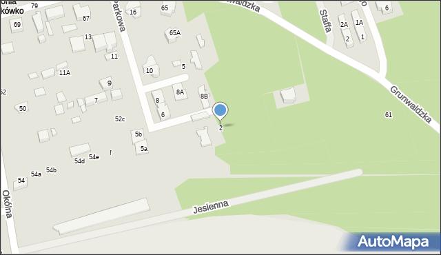 Marki, Parkowa, 2, mapa Marki