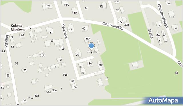 Marki, Parkowa, 5, mapa Marki