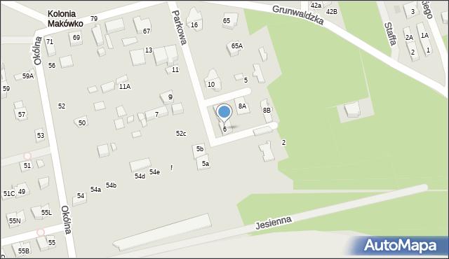 Marki, Parkowa, 6, mapa Marki