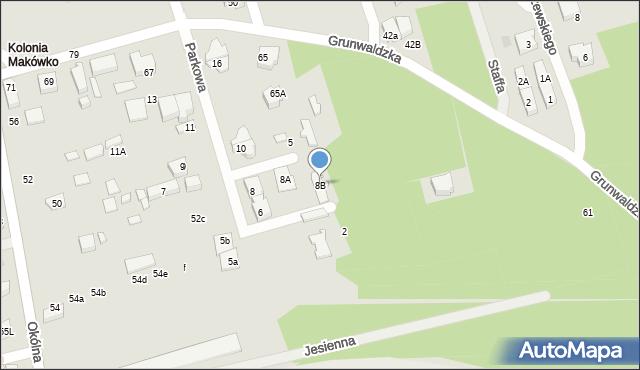 Marki, Parkowa, 8B, mapa Marki