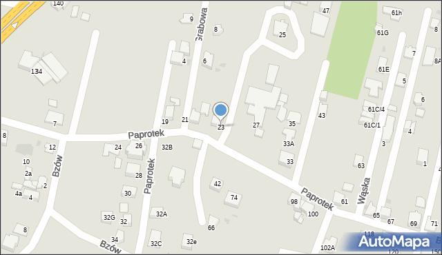 Mikołów, Paprotek, 23, mapa Mikołów