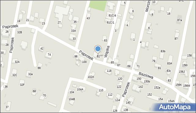Mikołów, Paprotek, 61, mapa Mikołów
