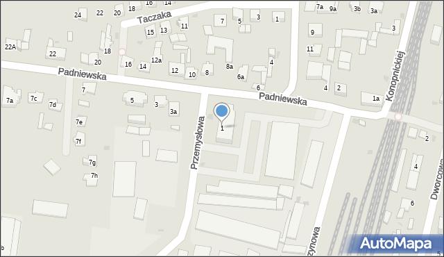 Mogilno, Padniewska, 1, mapa Mogilno